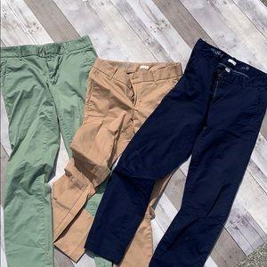 J Crew Ankle Khaki Pants